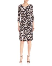 Kay Unger | Printed Jersey Dress | Lyst