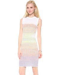 M Missoni Grid Stitch Sleeveless Dress - Lyst