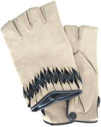Thomasine Gloves - Milan Mitaine Twisted Wrist Deco White - Lyst