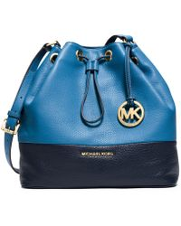 Michael Kors Michael Jules Large Colorblock Drawstring Shoulder Bag - Lyst