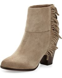 Ash Suede Fringe-Detail Ankle Boot - Lyst