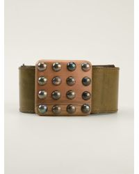 Yves Saint Laurent Vintage Studded Belt - Lyst