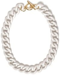 River Island White Curb Chain Necklace - Lyst