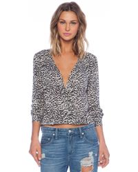 Velvet By Graham & Spencer Sadie Printed Shirt - Lyst