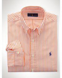 Polo Ralph Lauren Slim-Fit Striped Poplin Shirt - Lyst