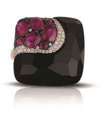 Marco Moore - Diamond, Black Onyx, Ruby And 14k Rose Gold Ring - Lyst