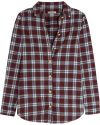 Burberry Brit - Plaid Cotton-flannel Shirt - Lyst