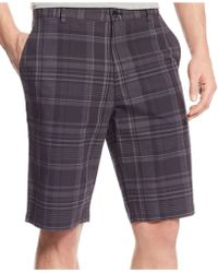 Calvin Klein Slub Multi-Plaid Shorts - Lyst