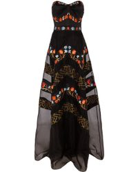 Temperley London Long Strapless Valencia Dress - Lyst