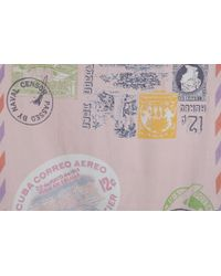 Epice - Allover Stamp Print Square Scarf - Lyst