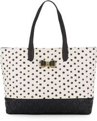 Betsey Johnson - Be My Bow Spotted Tote - Lyst