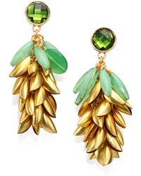 Tory Burch Brynn Floral Cluster Drop Earrings - Lyst