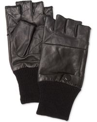 Calvin Klein Fingerless Knit-Cuff Gloves - Lyst