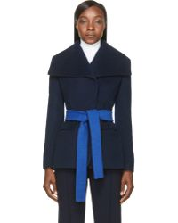 Altuzarra Navy and Cobalt Blue Balthus Jacket - Lyst