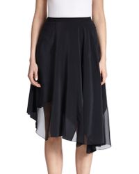 Elie Tahari Silk Sachi Skirt - Lyst