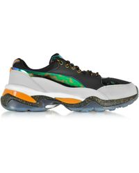 Alexander McQueen x Puma | Multicolor Leather And Fabric Tech Runner Sneaker | Lyst