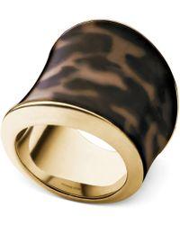 Michael Kors Gold-Tone Tortoise Ring - Lyst