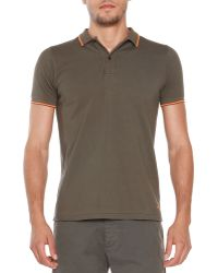 Tomas Maier Short-Sleeve Tipped Polo - Lyst