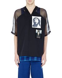 27800d88657376 Givenchy - Men s Canvas   Organza Iconography T-shirt - Lyst