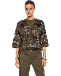 Isabel Marant Hamo Embroidered Camo Sweatshirt - Lyst