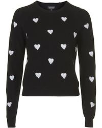 Topshop Needle Punch Hearts - Lyst