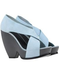 Balenciaga Blue Sandals - Lyst