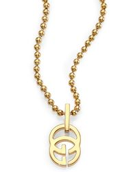 Gucci Running G 18k Yellow Gold Pendant Necklace - Lyst
