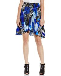 Vince Camuto Patterned Above The Knee Skirt - Lyst