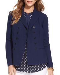 Ralph Lauren Lauren Double Breasted Wool Jacket - Lyst