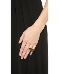 Maiyet - Slanted Concave Ring With Inlay - Rutile Quartz - Lyst