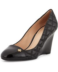Tory Burch Claremont Quilted Wedge Pump - Lyst