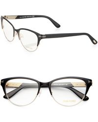 Tom Ford Rounded 53mm Optical Glasses - Lyst