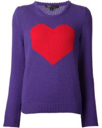 Marc Jacobs Intarsia Heart Sweater - Lyst