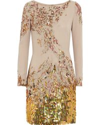 Matthew Williamson Embellished Silk Dress - Lyst