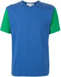 Comme des Garçons Contrasting Sleeves T-Shirt - Lyst