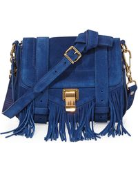Proenza Schouler Ps1 Suede Fringe Shoulder Bag - Lyst