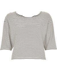 River Island Navy Stripe Bow Back T-Shirt - Lyst