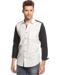Guess Nottingham Colorblocked Tuxedo Shirt - Lyst