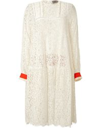 Preen Lace Dress with Contrast Cuffs - Lyst