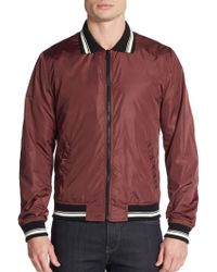 Dolce & Gabbana Lightweight Nylon Varsity Jacket - Lyst