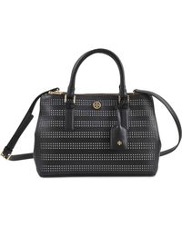 Tory Burch Robinson Double Zip Perforated Bag - Lyst