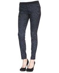 Rebecca Taylor Leopardprint Brocade Pants - Lyst
