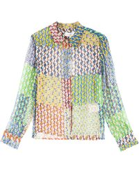 Paul & Joe Silk Patch Shirt - Lyst