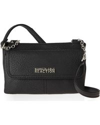 Kenneth Cole Reaction Black Contemporary Chain Mini Crossbody - Lyst