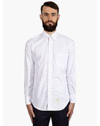 Thom Browne Mens White Cotton Oxford Shirt - Lyst