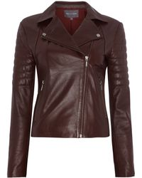 Pied A Terre Sannita Leather Biker - Lyst