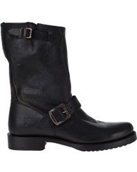 Frye | Veronica Shortie Boot Black Leather | Lyst