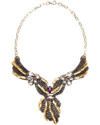 Deepa Gurnani Angelic Brass Necklace - Lyst