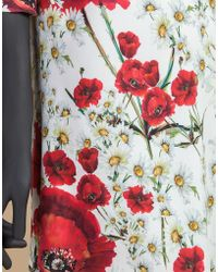Dolce & Gabbana | Tunic Dress In Printed Cady | Lyst