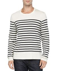 Vince Long-sleeve Colorblock Striped Tee - Lyst